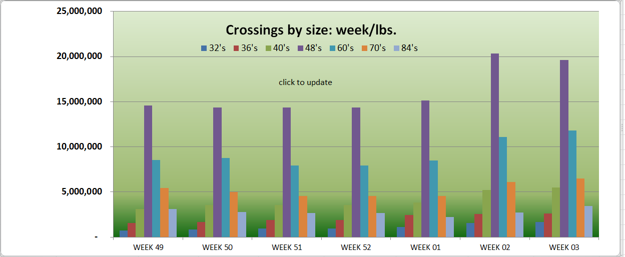 weekly shipment statistics healthy avocado